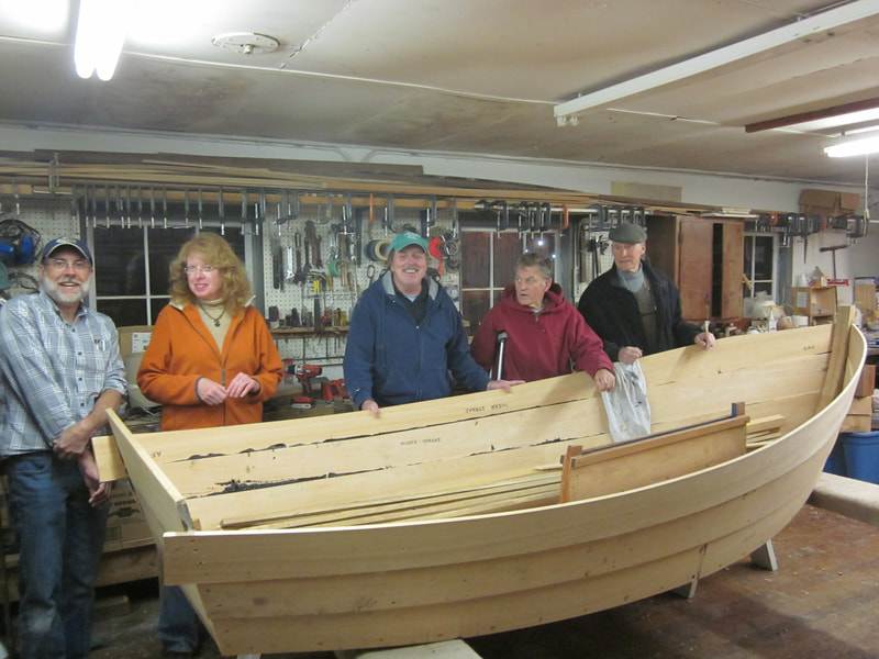 Working on a sailing skiff build